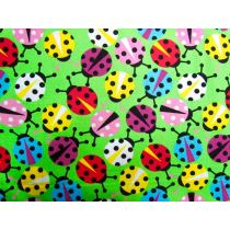Colourful Lady Bugs- Lime
