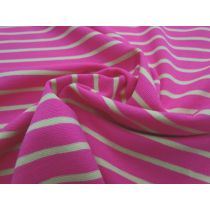 Sporty Stripe Cotton Knit- Pink/Yellow