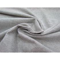 Thin Knit Stripe Jersey- Cream/Black