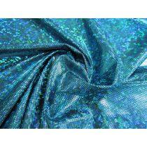 Dark Shattered Glass Spandex- Aqua on Black