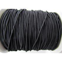 2mm Bungee Cord Elastic- Black #007