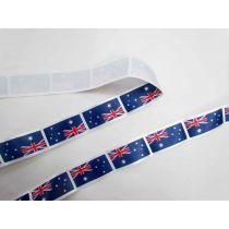 Australian Flag Satin Ribbon- 35mm