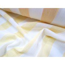 Pyjama Stripe Muslin- Banana