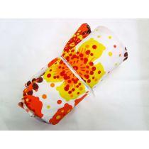 1m Havaiana Floral Lycra- Yellow/Orange Mini Roll