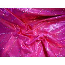 Mirror Sequin Diamond Fog Spandex- Hot Pink