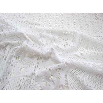Pure Snow Border Stretch Lace