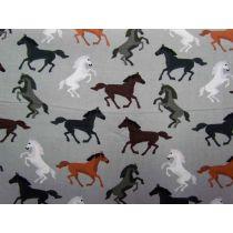 Wild Horses Cotton- Grey