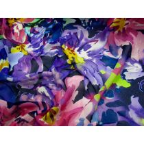 Violet Tropical Floral Chiffon
