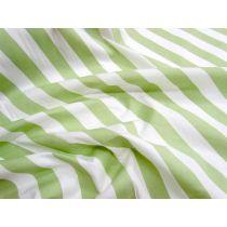 Striped Cotton Poplin- Pistachio