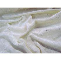 Starlight Crush Stretch Velvet- Cream