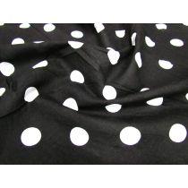 Spot Poplin- White on Black