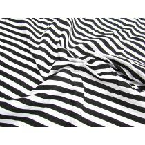 Stripe Poplin- Black & White