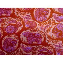 Tula Pink Slow & Steady #87- Orange Crush