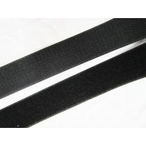 50mm Sew On Hook & Loop Fastener- Black