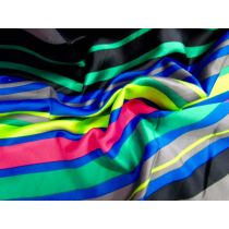 Diagonal All Sorts Striped Satin