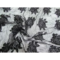 Crinkle Rose Lace- Black