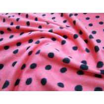 Pink Polka Micro Polar Fleece