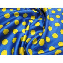 Spot Satin- Yellow on Royal