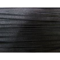 7mm Lingerie Strap Elastic- Shiny Black