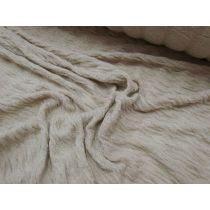 Wool Blend Rouched Jersey- Clay