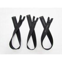 Zipper Bundle- Chunky Open End- 55cm Black- 3 for $5