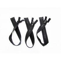 Zipper Bundle- Super Chunky Open End- 53cm Black- 3 for $5