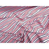 Raspberry Bullet Stripe Cotton Spandex