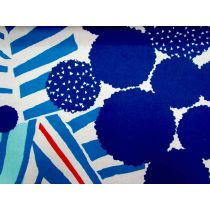 Echino Silverlined Shapes- Blue