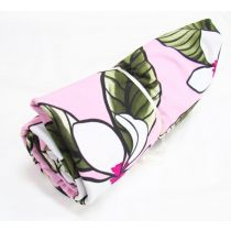 1m Mini Roll Phuket Floral Spandex- Pink