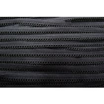 Soft Scallop Loop Frill Elastic- Black