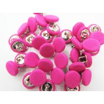 2 for $1.00 Fabric Covered Fashion Buttons- Hot Pink FB091
