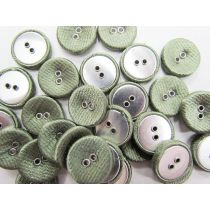 Fabric Covered Fashion Buttons- Satin Olive FB097