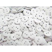 Heavy Duty Fashion Buttons- White FB101