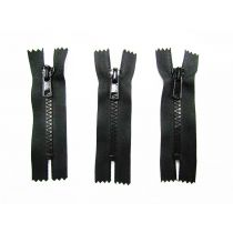 Zipper Bundle- Chunky Closed End- 8cm Black- 3 for $5