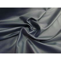 Leather Look 2way Stretch Spandex- Steel Navy
