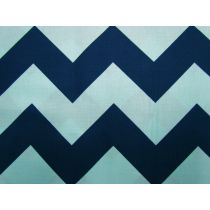Large Chevron- Navy/Aqua #23