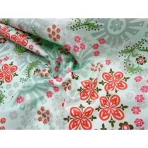 Garden Girl Floral Cotton- Mint
