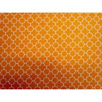 Mini Quatrefoil- Orange