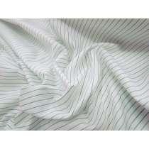 Pepper Green Pinstripe Shirting