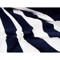 50x50 Striped Cotton Spandex- Navy