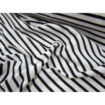 5x10 Striped Cotton Spandex- Black on White