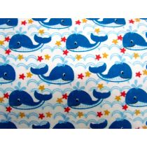 Happy Whales Flannelette