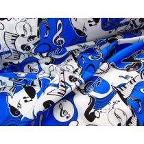 Music Print Spandex- Blue