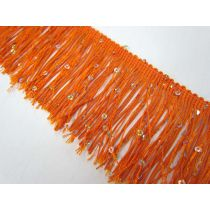 Sequin Fringe Trim- Orange