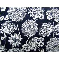 Flower Show Cotton- Navy