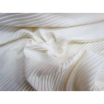 Moss Crepe Pleated Jersey- Vanilla