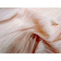 Pleated Chiffon- Apricot