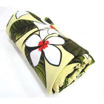 1m Precut Phuket Floral Spandex Mini Roll- Yellow