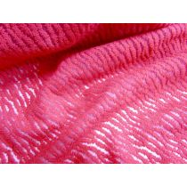 Tiger Flocked Organza- Rose