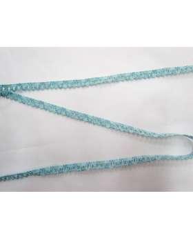 Baby Ripple Scallop Stretch Trim- Blue/Green
